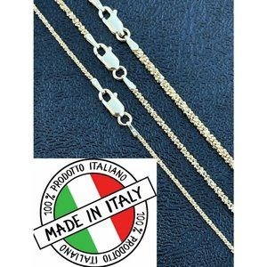 HarlemBling 14k Gold 925 Silver Sparkle Rope Chain